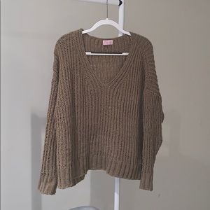 Pink Lily Olive Green Sweater